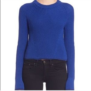 rag & bone Beatrix Clematis Blue Knit Sweater M